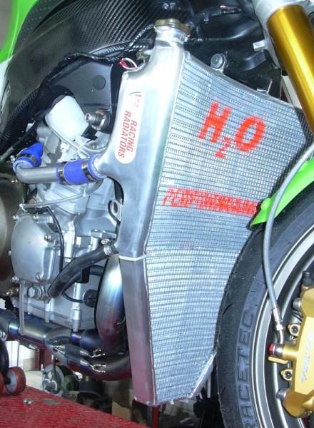 H2O performance Racing-Kit-Kühler für Kawasaki Ninja ZX6R 05-06