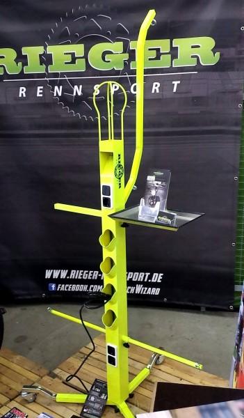 Rieger - Paddock Wizard - Der Racing Multi-Ständer mit Kombihalter